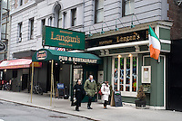 Broadway Langan's Irish Pub  in Midtown in New York is seen on Thursday, March 4, 2010. In advance for St. Patrick's Day. (© Richard B. Levine)