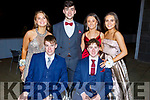 Enjoying the Mercy Mounthawk Debs in the Ballyroe Heights Hotel on Thursday night. Seated David Fitzmaurice and Ruairi O&rsquo;Kelly.<br /> Back l-r, Mollie O&rsquo;Carroll, Dara Barry Walsh, Sinead O&rsquo;Brien and Niamh McMahon.