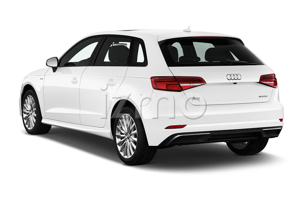 Car pictures of rear three quarter view of 2017 Audi A3 Sportback e tron Premium  5 Door Hatchback angular rear