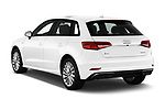Car pictures of rear three quarter view of 2017 Audi A3 Sportback e tron Premium  5 Door Hatchback angular rear