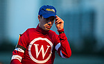 HALLANDALE BEACH, FL - JANUARY 27: Florent Geroux gives a tip of the cap at the Pegasus World Cup Invitational at Gulfstream Park Race Track on January 27, 2018 in Hallandale Beach, Florida. (Photo by Alex Evers/Eclipse Sportswire/Getty Images)