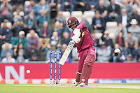 Shai Hope (West Indies) drives into the covers during England vs West Indies, ICC World Cup Cricket at the Hampshire Bowl on 14th June 2019
