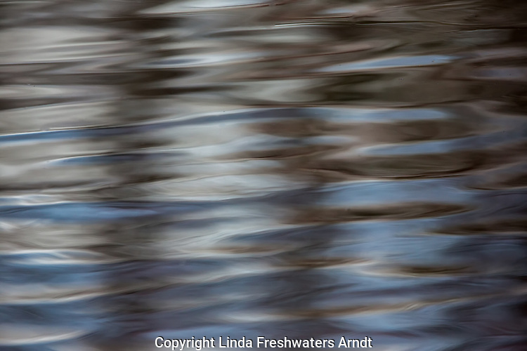 Ripples in the water on the East Fork of the Chippewa River, Wisconsin