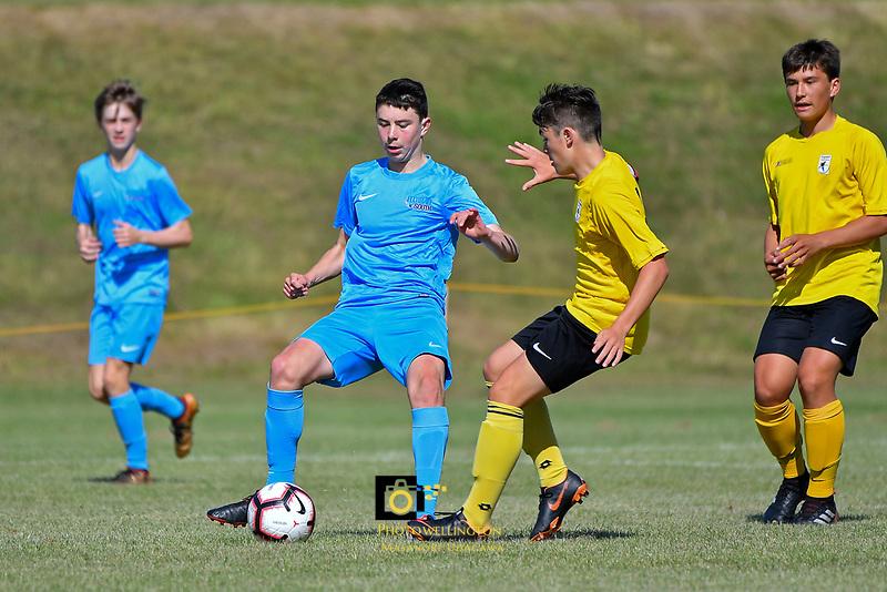 National Age Group Tournament - U14 Boys Capital v South at Petone Memorial Park, Lower Hutt, New Zealand on Wednesday 12 December 2018. <br /> Photo by Masanori Udagawa. <br /> www.photowellington.photoshelter.com