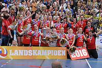 VOLLEYBAL: SNEEK: 24-04-2016, VC Sneek - Set-Up, uitslag 3-1,VC Sneek Kampioen van Nederland, ©foto Martin de Jong
