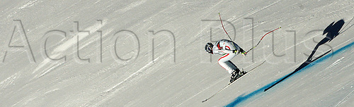 16.12.2010 Werner Heel of Italy skiing in second training of Men downhill race of Audi FIS alpine skiing World Cup in Val Gardena, Italy. Second training of downhill race of Men Audi FIS Alpine skiing World Cup 2010-11, was held on Thursday, 16th of December 2010, on Saslong course in Val Gardena, Italy.