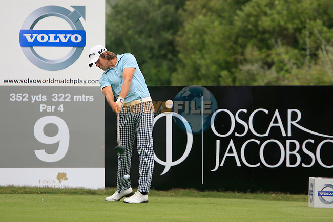 Aaron Baddeley (AUS) tees off on the 9th tee during Day 2 of the Volvo World Match Play Championship in Finca Cortesin, Casares, Spain, 20th May 2011. (Photo Eoin Clarke/Golffile 2011)