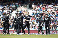 James Neesham (New Zealand) first delivery accounts for Hardik Pandya (India) during India vs New Zealand, ICC World Cup Warm-Up Match Cricket at the Kia Oval on 25th May 2019
