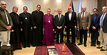 Palestinian Prime Minister Mohammad Ishtayeh meets a delegation of the Episcopal Diocese of Jerusalem, at his headquarter in the West Bank city of Ramallah, April 23, 2019. Photo by Prime Minister Office