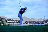 Gary Woodland (USA) on the 16th tee during the 1st round of the Waste Management Phoenix Open, TPC Scottsdale, Scottsdale, Arisona, USA. 31/01/2019.<br /> Picture Fran Caffrey / Golffile.ie<br /> <br /> All photo usage must carry mandatory copyright credit (© Golffile | Fran Caffrey)