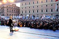 Giorgia Meloni<br /> Roma 28-01-2017. Piazza San Silvestro. Manifestazione della Destra 'Il popolo a governo Italia sovrana'.<br /> Rome January 28th 2017. Demonstration of the right wing against the Government.<br /> Foto Samantha Zucchi Insidefoto