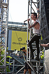 Andy Biersack of Black Veil Brides performs during the 2013 Rock On The Range festival at Columbus Crew Stadium in Columbus, Ohio.