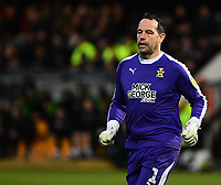 Cambridge United's David Forde<br /> <br /> Photographer Andrew Vaughan/CameraSport<br /> <br /> The EFL Sky Bet League Two - Cambridge United v Lincoln City - Saturday 29th December 2018  - Abbey Stadium - Cambridge<br /> <br /> World Copyright © 2018 CameraSport. All rights reserved. 43 Linden Ave. Countesthorpe. Leicester. England. LE8 5PG - Tel: +44 (0) 116 277 4147 - admin@camerasport.com - www.camerasport.com