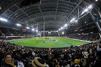 A general view during the Steinlager Series international rugby match between the New Zealand All Blacks and France at Forsyth Barr Stadium in Wellington, New Zealand on Saturday, 23 June 2018. Photo: Dave Lintott / lintottphoto.co.nz