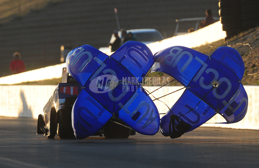 Jul. 29, 2011; Sonoma, CA, USA; NHRA funny car driver Robert Hight during qualifying for the Fram Autolite Nationals at Infineon Raceway. Mandatory Credit: Mark J. Rebilas-