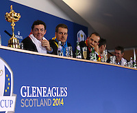 European Team Press Conference after Sunday's Singles at the 2014 Ryder Cup from Gleneagles, Perthshire, Scotland. Picture:  David Lloyd / www.golffile.ie