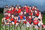 The Glenbeigh/Glencar team celebrate after defeating Laune Rangers in the Mid Kerry Championship final in Beaufort on Sunday......
