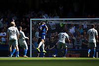 Chelsea's Alvaro Morata scores his sides second goal     <br /> <br /> <br /> Photographer Craig Mercer/CameraSport<br /> <br /> The Premier League - Chelsea v Everton - Sunday 27th August 2017 - Stamford Bridge - London<br /> <br /> World Copyright &copy; 2017 CameraSport. All rights reserved. 43 Linden Ave. Countesthorpe. Leicester. England. LE8 5PG - Tel: +44 (0) 116 277 4147 - admin@camerasport.com - www.camerasport.com