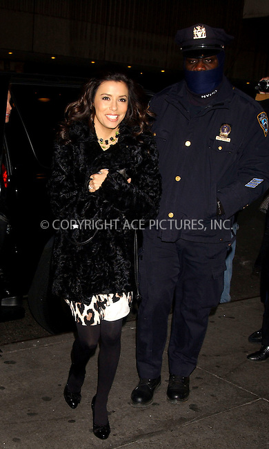 WWW.ACEPIXS.COM . . . . . ....February 13, 2007, New York City. ....Eva Longoria Stops by the MTV's TRL Studios. ....Please byline: KRISTIN CALLAHAN - ACEPIXS.COM.. . . . . . ..Ace Pictures, Inc:  ..(212) 243-8787 or (646) 769 0430..e-mail: info@acepixs.com..web: http://www.acepixs.com
