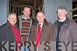 ..Thady Twomey, Myles Healy, Andrew Kelleher and John Brosnan all Castleisland at the IFA senimar in Castleisland Mart on Thursday evening..