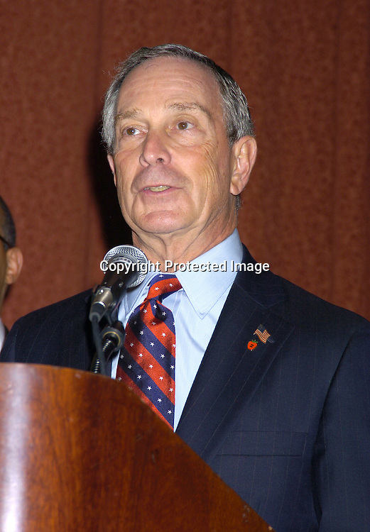 Mayor Michael Bloomberg ..at the One Hundred Black Men, Inc Dinner honoring ..Janet Jackson, Hank Aaron, Dr Johnnetta B. Cole and ..Willie E. Gary on November 11, 2004 at The Hilton Hotel. ..Photo by Robin Platzer, Twin Images
