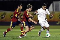 Spain's Illarramendi (l), Montoya and Norway's Singh during an International sub21 match. March 21, 2013.(ALTERPHOTOS/Alconada) /NortePhoto