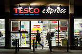 Late night opening at a Tesco Express store in West Hampstead, London.