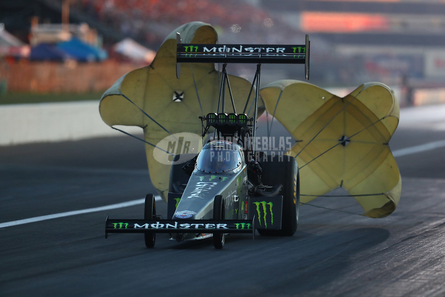 Sep 2, 2017; Clermont, IN, USA; NHRA top fuel driver Brittany Force during qualifying for the US Nationals at Lucas Oil Raceway. Mandatory Credit: Mark J. Rebilas-USA TODAY Sports
