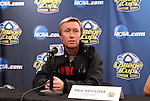 03 December 2011: Stanford head coach Paul Ratcliffe. The Stanford University Cardinal held a press conference at KSU Soccer Stadium in Kennesaw, Georgia the day before playing Duke in the NCAA Division I Women's Soccer College Cup championship game.