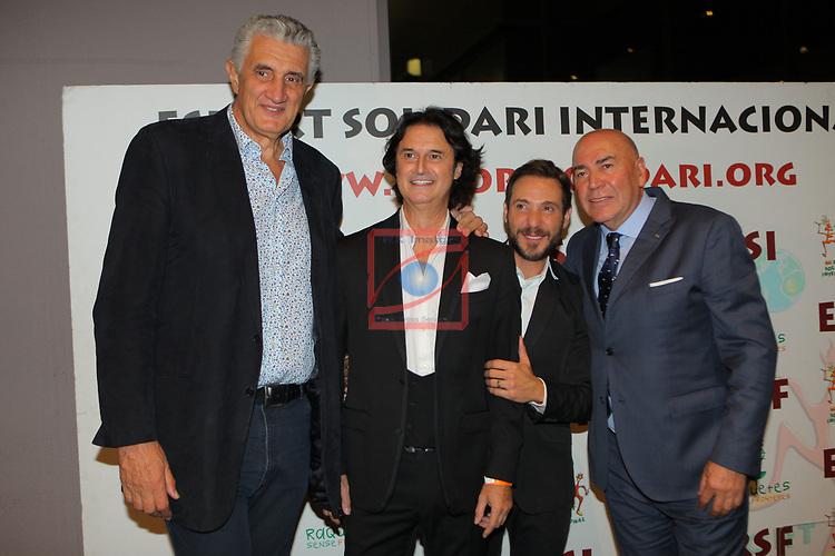 XIV Sopar Solidari de Nadal.<br /> Esport Solidari Internacional-ESI.<br /> Fernando Romay, Poty, Antonio David Flores & Labi Champion.