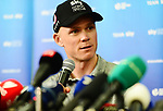 Defending Champion Christopher Froome (GBR) Team Sky press conference before the 105th edition of the Tour de France 2018, held in Vend&eacute;space, La Roche-sur-Yon, France. 4th July 2018. <br /> Picture: ASO/Simon Wilkinson | Cyclefile<br /> All photos usage must carry mandatory copyright credit (&copy; Cyclefile | ASO/Simon Wilkinson)
