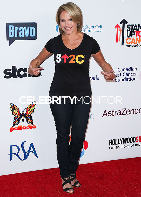 HOLLYWOOD, LOS ANGELES, CA, USA - SEPTEMBER 05: Katie Couric arrives at the 4th Biennial Stand Up To Cancer held at Dolby Theatre on September 5, 2014 in Hollywood, Los Angeles, California, United States. (Photo by Xavier Collin/Celebrity Monitor)