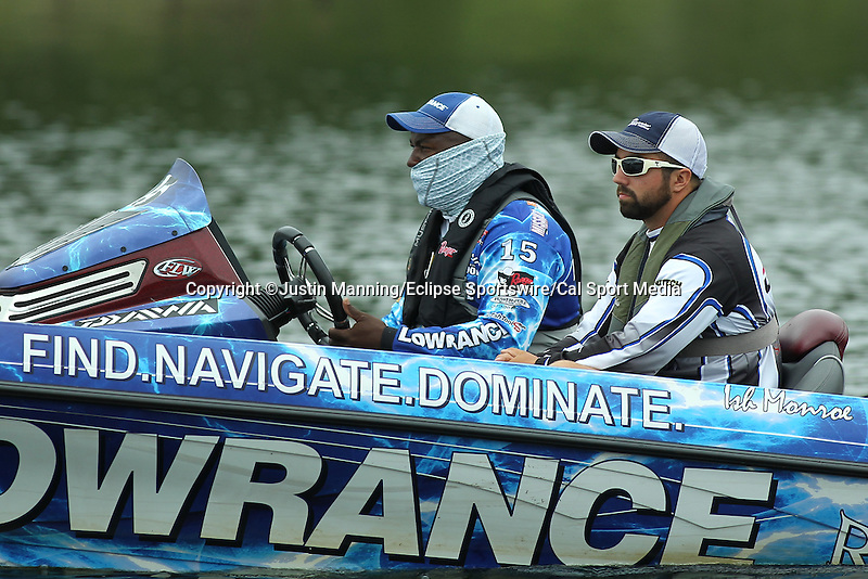 August 21, 2015: Ish Monroe making a move on day two of the Forrest Wood Cup on Lake Ouachita in Hot Springs, AR. Justin Manning/ESW/CSM