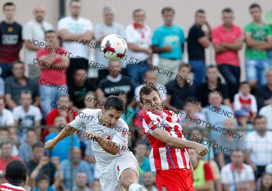 Fudbal Super liga season 2013-2014<br /> Javor v Crvena Zvezda <br /> Filip Kasalica right<br /> Beograd, 11.08.2013.<br /> foto: Srdjan Stevanovic/Starsportphoto &copy;