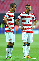 USA's Hector Joya (R) and Luis Gil (L) during their FIFA U-20 World Cup Turkey 2013 Group Stage Group A soccer match France betwen USA at the Turk Telkom Arenain istanbul on June 24, 2013. Photo by Aykut AKICI/isiphotos.com