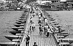 Floating bridge in Ha Tien, Vietnam