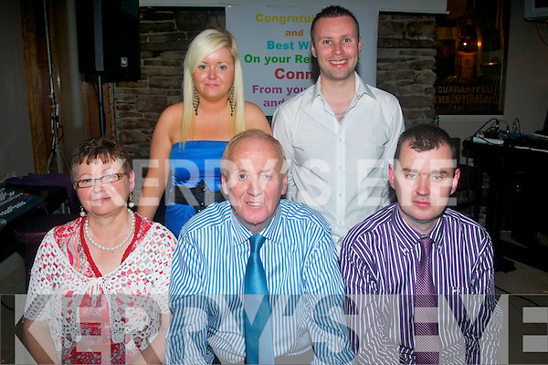 6322-6326.---------.LAST DELIVERY: Postman Connie Turner, Ballinorig Close, Tralee (seated centre) had a great night celebrating his retirement from An Post after 24yrs delivering letters around the Rockstreet area of the town, enjoying the night was his wife Betty, daughter Gretta, sons Cathal and Shane and many friends, family and colleagues..7127504