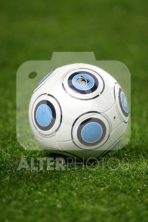 Adidas' football ball during an international friendly, February 11, 2009. (ALTERPHOTOS).