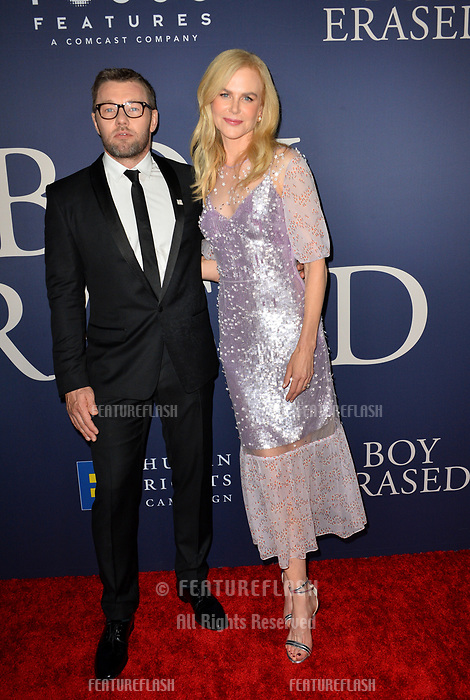 LOS ANGELES, CA. October 29, 2018: Nicole Kidman &amp; Joel Edgerton at the Los Angeles premiere for &quot;Boy Erased&quot; at the Directors Guild of America.<br /> Picture: Paul Smith/Featureflash