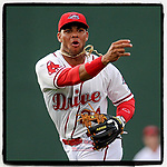 #OTD On This Day, May 18, 2015, infielder Yoan Moncada (24) of the Greenville Drive, a 19-year-old prospect from Cuba, made his professional debut against the Lexington Legends at Fluor Field at the West End in Greenville, South Carolina. He is now playing with the White Sox. (Tom Priddy/Four Seam Images) #MiLB #OnThisDay #MissingBaseball #nobaseball #stayathome #minorleagues #minorleaguebaseball #Baseball #SallyLeague #AloneTogether