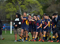 Action from the Weltec Wellington Secondary Schools premier 3 final between Mana College and Upper Hutt College at Silverstream College in Upper Hutt, New Zealand on Saturday, 19 August 2017. Photo: Dave Lintott / lintottphoto.co.nz