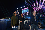 MIAMI, FL - DECEMBER 30: PITBULL'S NEW YEAR'S REVOLUTION REHEARSAL: Hosted by Queen Latifah and Snoop Dogg. PITBULL'S NEW YEAR'S REVOLUTION returns to FOX on Saturday, Dec. 31, live from Miami, FL, 11:00 PM-12:30 AM ET (CT/MT/PT tape-delayed) for the countdown to 2017. At Bayfront Park on Saturday December 30, 2016 in Miami, Florida. Pictured: Queen Latifah and Rea Wong. Photo by: Johnny Louis/jlnphotography.com