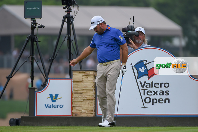 Graeme McDowell (NIR) reacts to his tee shot on 11 during day 3 of the Valero Texas Open, at the TPC San Antonio Oaks Course, San Antonio, Texas, USA. 4/6/2019.<br /> Picture: Golffile | Ken Murray<br /> <br /> <br /> All photo usage must carry mandatory copyright credit (© Golffile | Ken Murray)