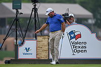 Graeme McDowell (NIR) reacts to his tee shot on 11 during day 3 of the Valero Texas Open, at the TPC San Antonio Oaks Course, San Antonio, Texas, USA. 4/6/2019.<br /> Picture: Golffile | Ken Murray<br /> <br /> <br /> All photo usage must carry mandatory copyright credit (&copy; Golffile | Ken Murray)