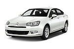 2016 Citroen C5-Berline Business 4 Door Sedan Angular Front stock photos of front three quarter view