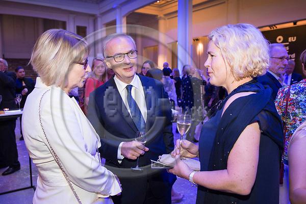 BRUSSELS - BELGIUM - 27 September 2017 -- Finland 100th Anniversary Reception and Concert of the Philharmonia Orchestra of London at the BOZAR. -- Mr. &. Mrs.  Marja Rislakki, Ambassador of Finland to the EU with MEP Miapetra KUMPULA-NATRI. -- PHOTO: Juha ROININEN / EUP-IMAGES