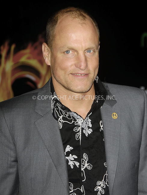 WWW.ACEPIXS.COM . . . . .  ....March 12 2012, LA....Woody Harrelson arriving at the premiere of 'The Hunger Games' at Nokia Theatre L.A. Live on March 12, 2012 in Los Angeles, California.....Please byline: PETER WEST - ACE PICTURES.... *** ***..Ace Pictures, Inc:  ..Philip Vaughan (212) 243-8787 or (646) 769 0430..e-mail: info@acepixs.com..web: http://www.acepixs.com