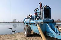 Irrigation pump sited at reservoir