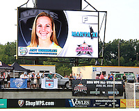 Amy Rodriguez #17 of Marta's XI during the WPS All-Star game against Abby's XI at the KSU Stadium in Kennesaw, Georgia on June 30 2010. Marta XI won 5-2.