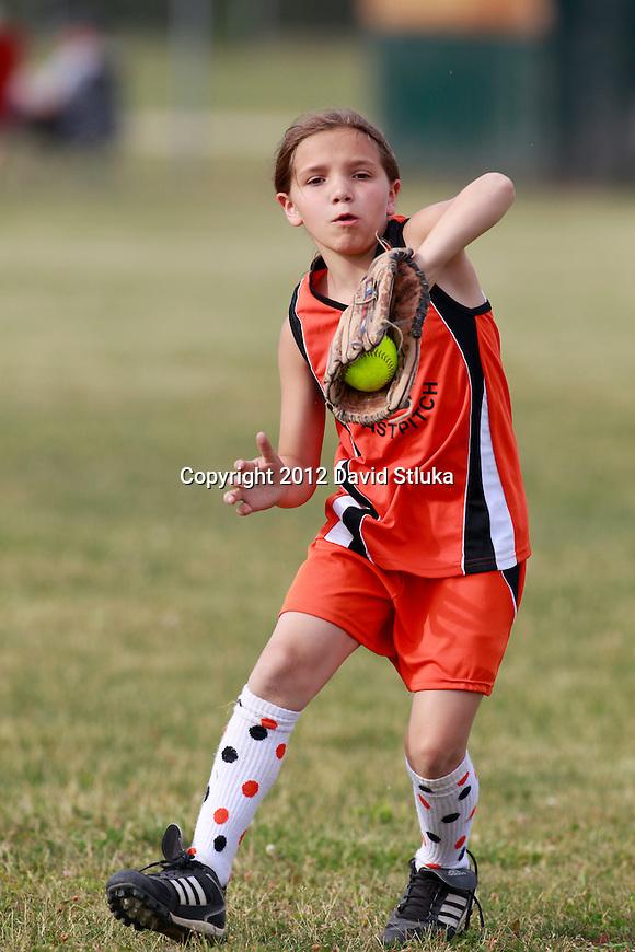 Oregon U10 Fast Pitch Soft on June 13, 2012 in Oregon, Wisconsin. (Photo by David Stluka)